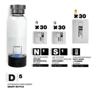 D5 + N1, S1, Ω – Hydrogen-enrichment Smart Bottle + Applied Nutriceuticals Vitamins & Skincare Supplements