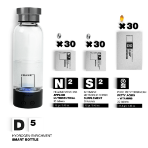 D5 + N2, S2, Ω – Hydrogen-enrichment Smart Bottle + Applied Nutriceuticals Vitamins & Skincare Supplements