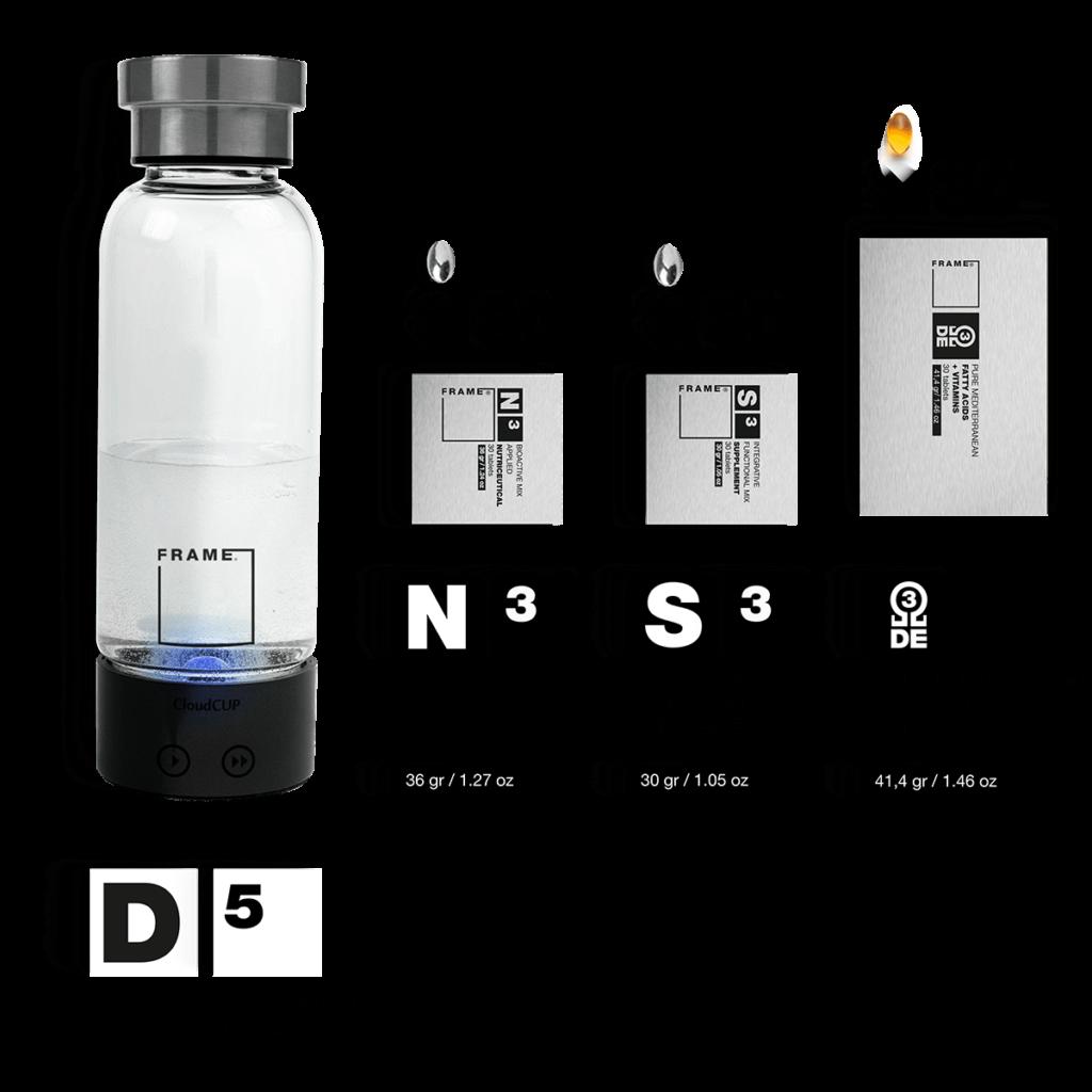 D5 + N3, S3, Ω – Hydrogen-enrichment Smart Bottle + Applied Nutriceuticals Vitamins & Skincare Supplements