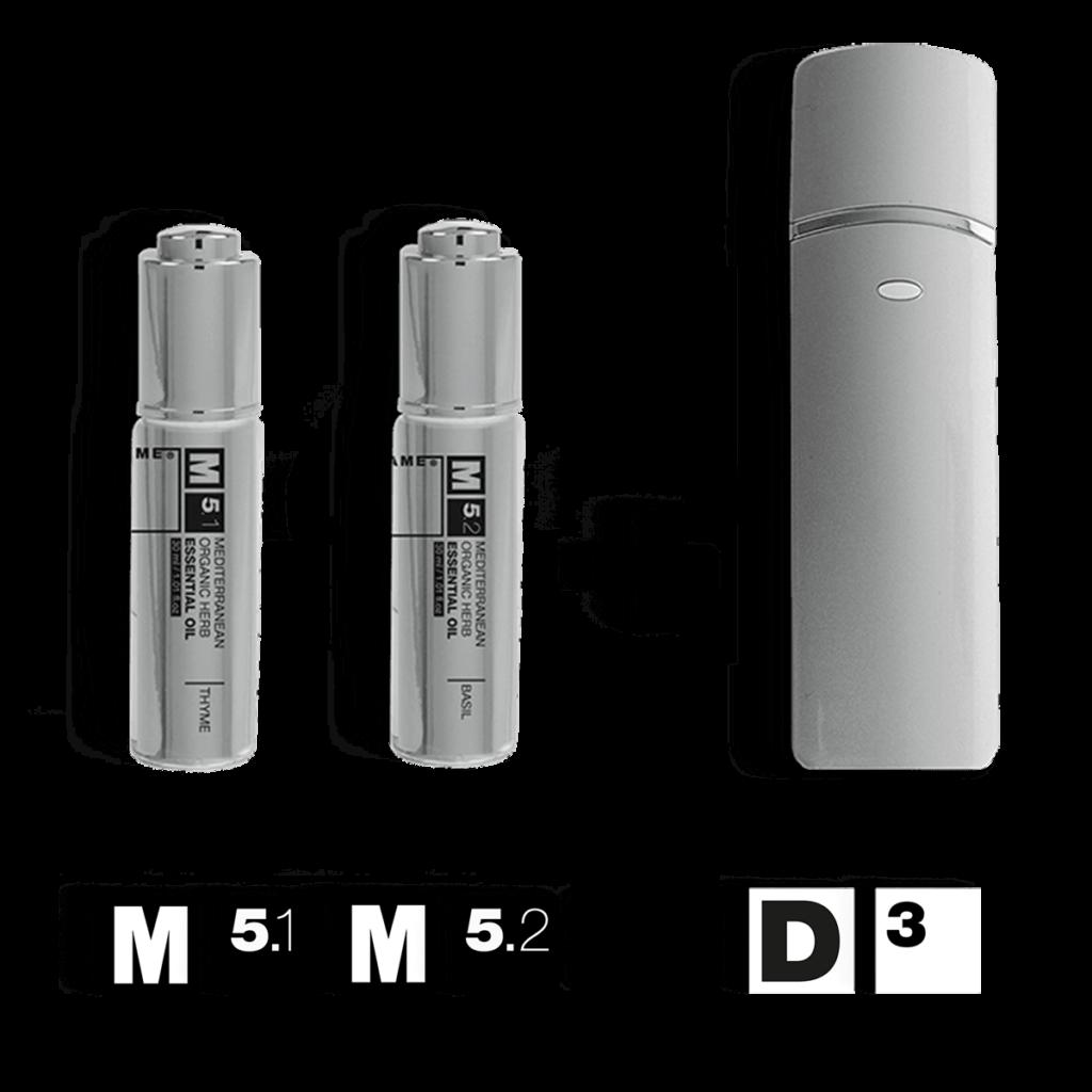 M5 – Mediterranean Organic Herbs Essential Oils + D3 – Nano mist diffuser